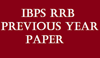 IBPS RRB PREVIOUS YEAR QUESTION PAPER WITH SOLUTION
