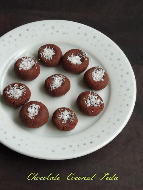 Coconut peda, chocolate coconut peda