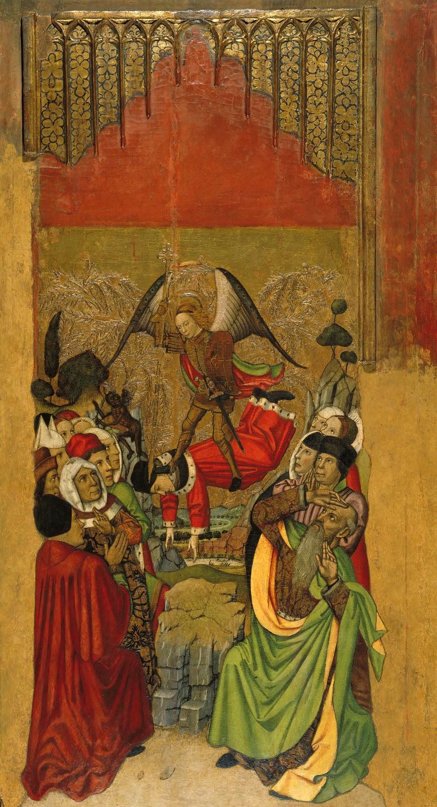 Jaume Huguet saint michael vanquishes the antichrist