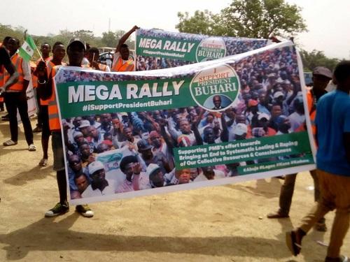 Pro-Buhari Rally Shut Down Abuja As SCO, NGOs Pass Vote Of Confidence On Buhari