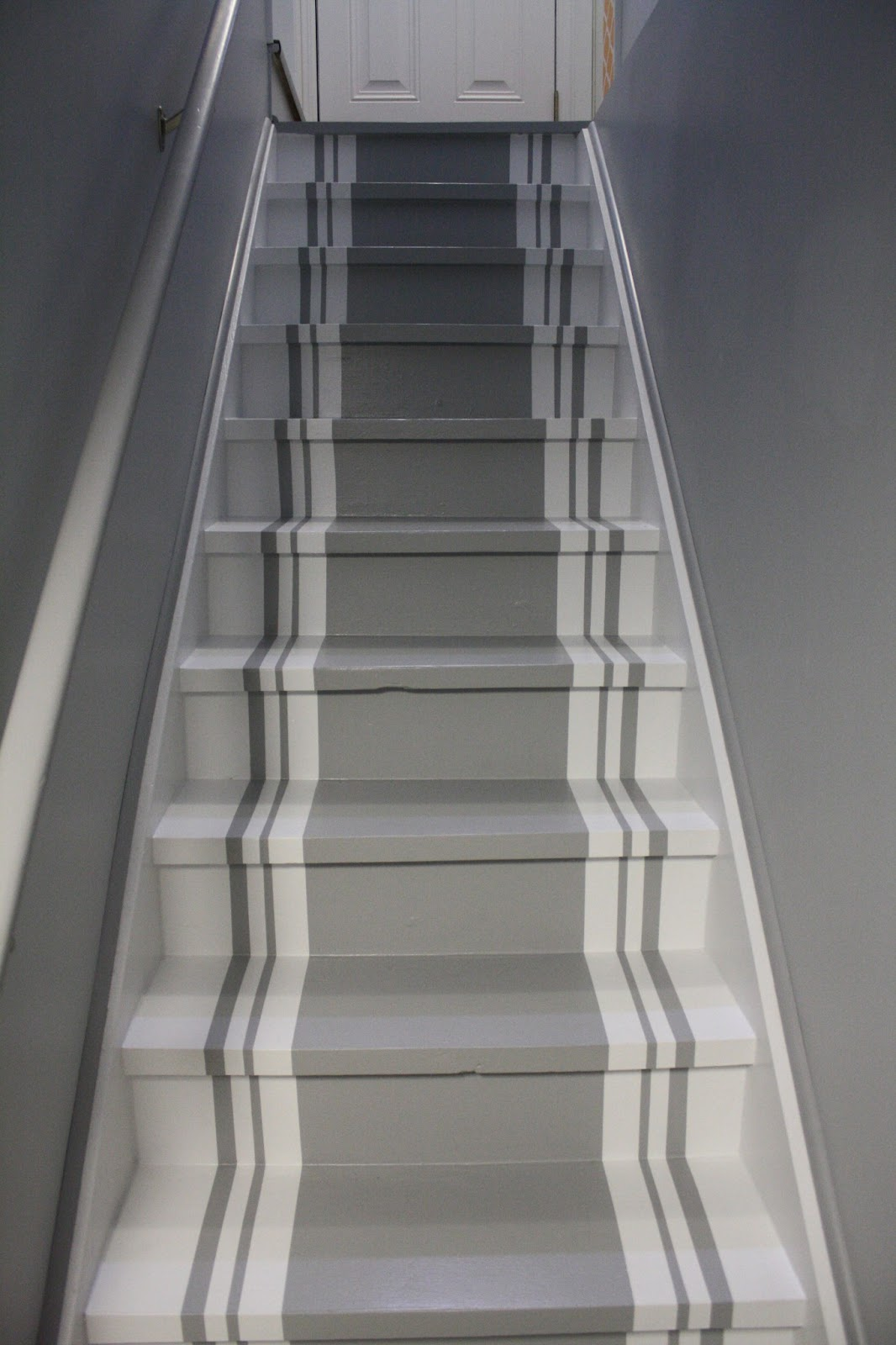 Lighting Basement Washroom Stairs: Chic, Not Boutique!: Striped Stairs And More