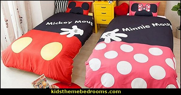 shared bedroom ideas mickey mouse minnie mouse theme bedroom decorating ideas