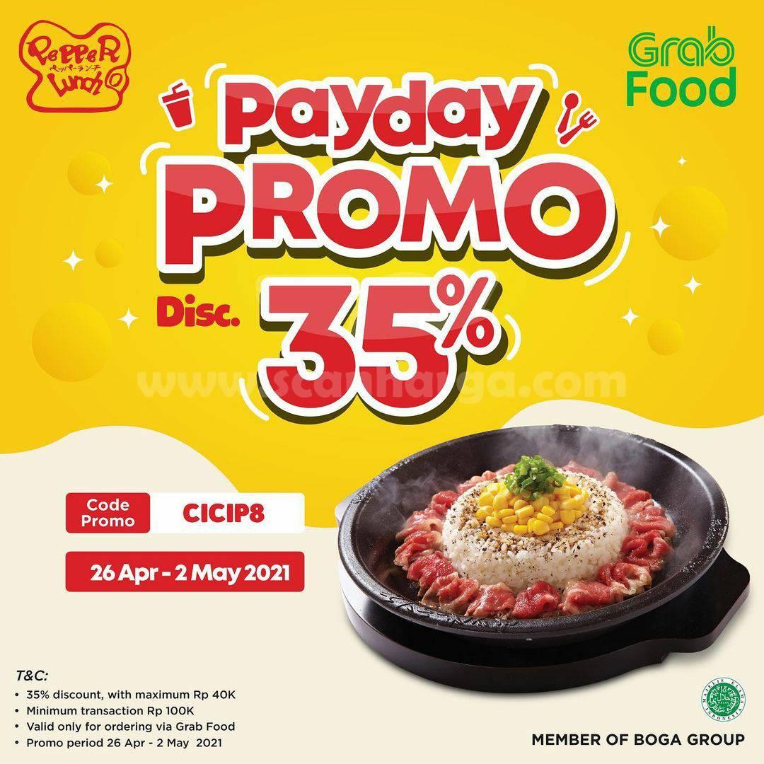 Promo PEPPER LUNCH PAYDAY – DISKON 35% via GRABFOOD