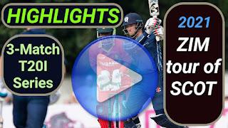 Zimbabwe tour of Scotland 3-Match T20I Series 2021