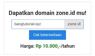 Membuat Nama Domain Baru di ZONE.ID