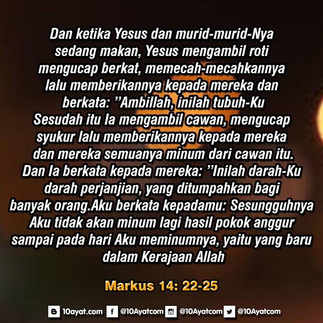 Markus 14: 22-25