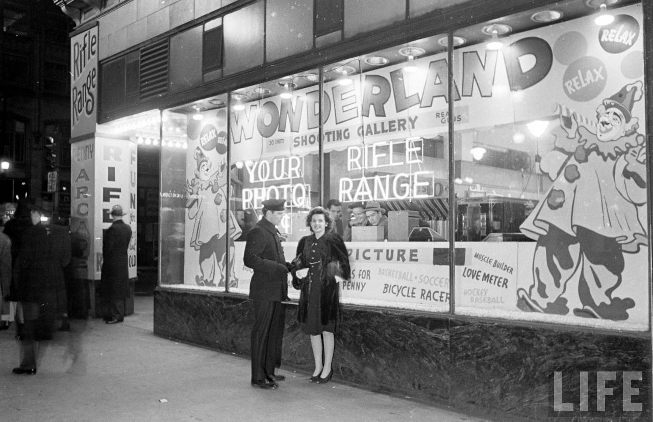 Kansas Citys Wonderland Arcade in the late 1960  vintage