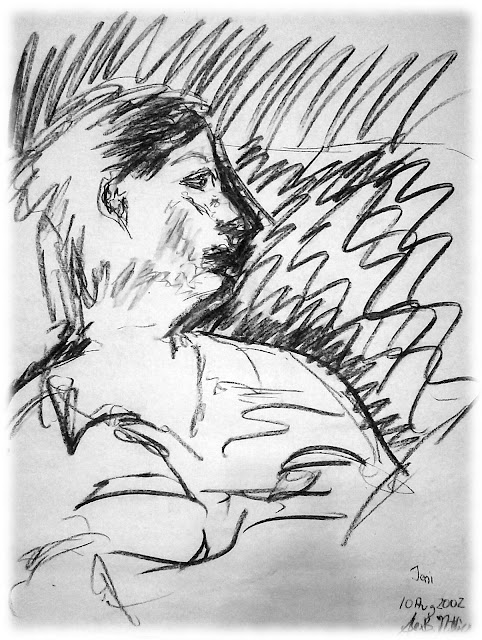 Drawing 20020810 Charcoal on Newsprint © Alex Nuttall / OgFOMK ArTS 2002 - 2017