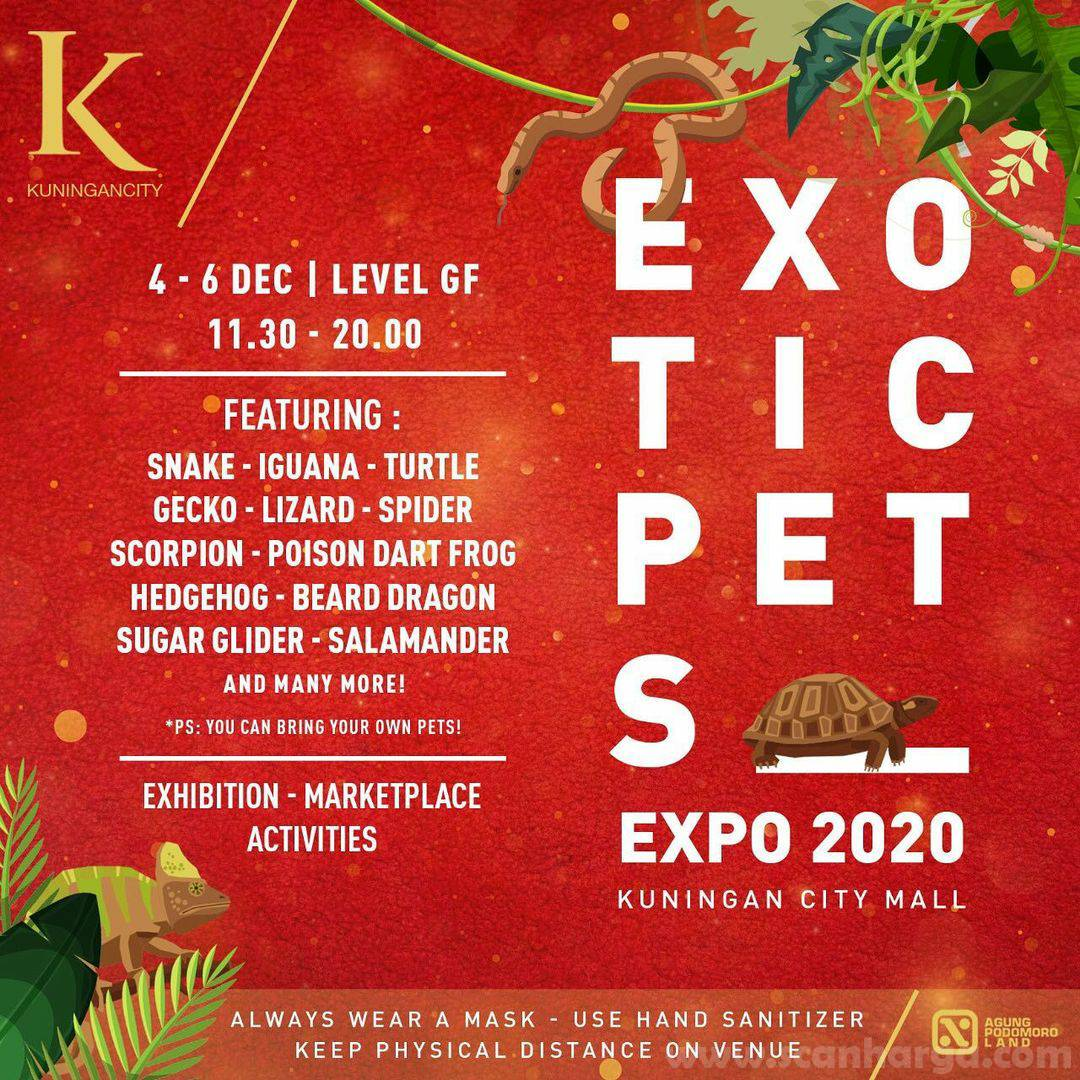 Kuningan City Proudly Present EXOTIC PETS EXPO 2020