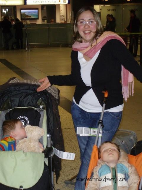 espatrio con bambini