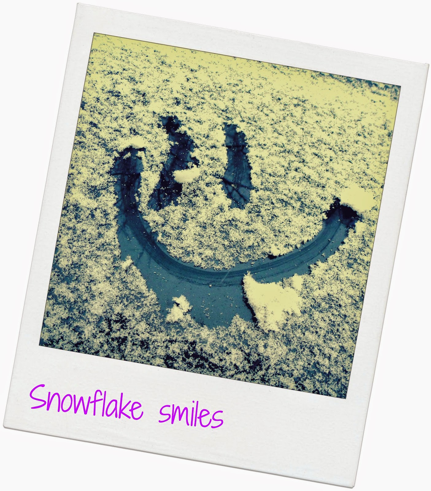 snowflake smiles love snow from MommysPinkieLipgloss.blogspot.com