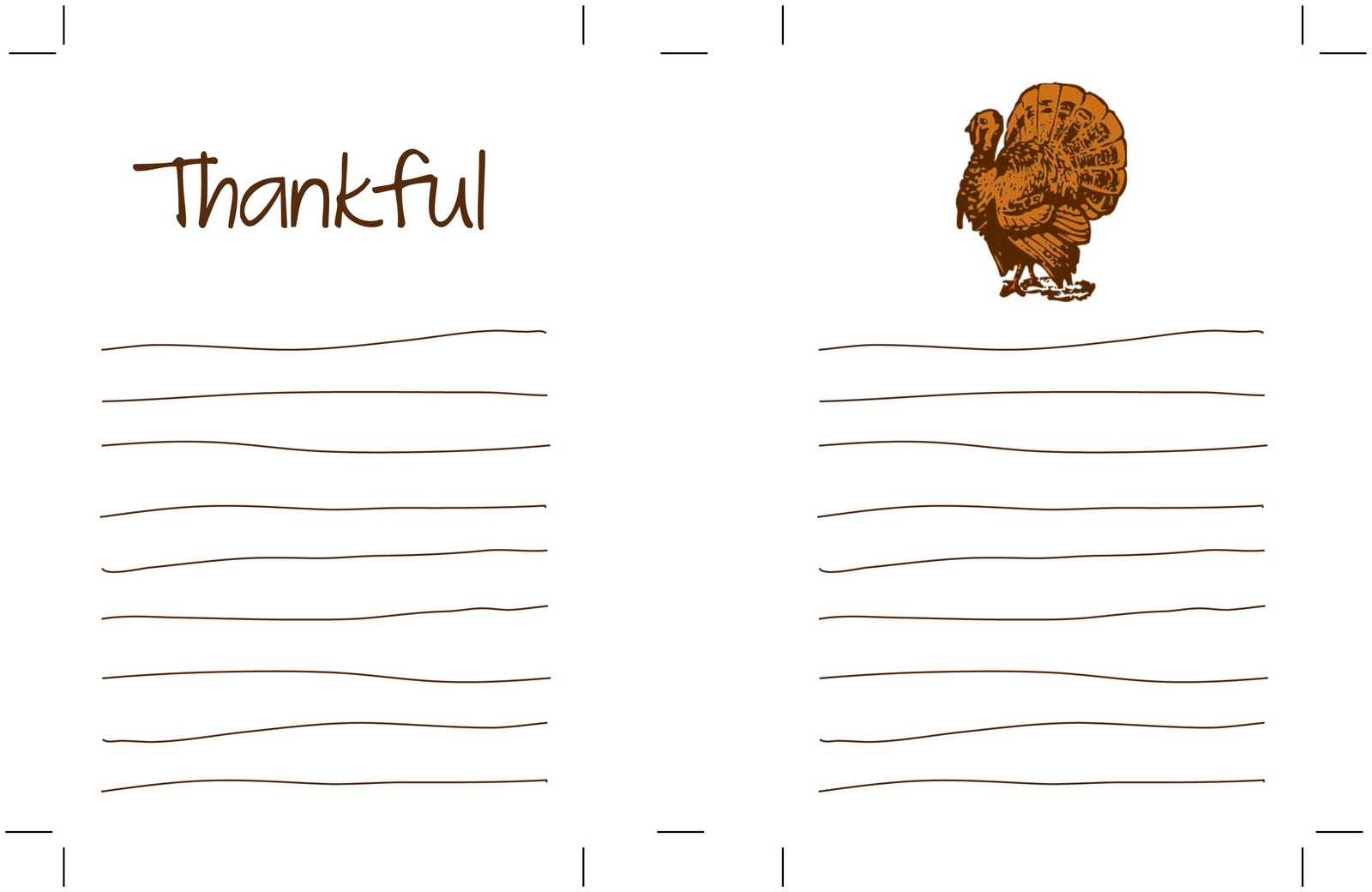The Creative Place Thanksgiving Thankful Printables