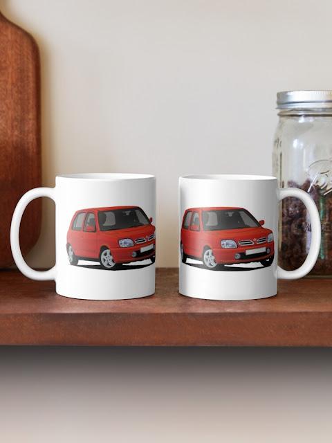Nissan Micra March K11C two car image mug