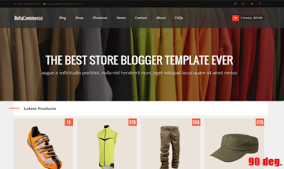 BetaCommerce Blogger Template