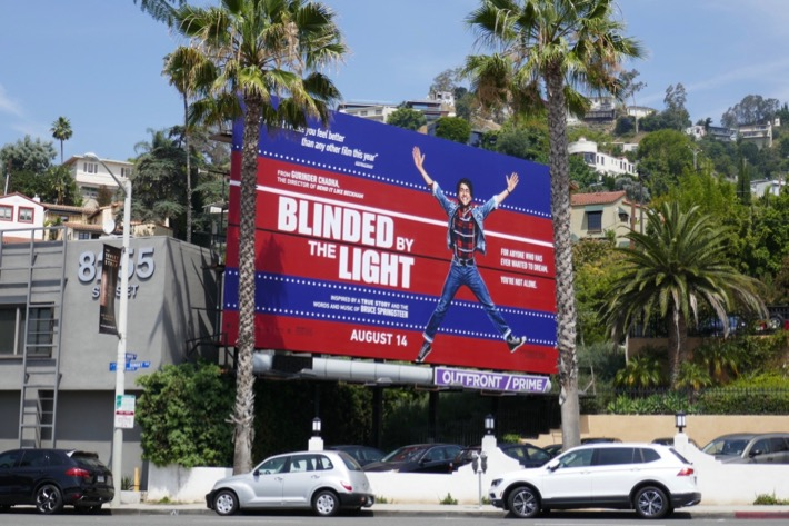 Blinded by the Light billboard