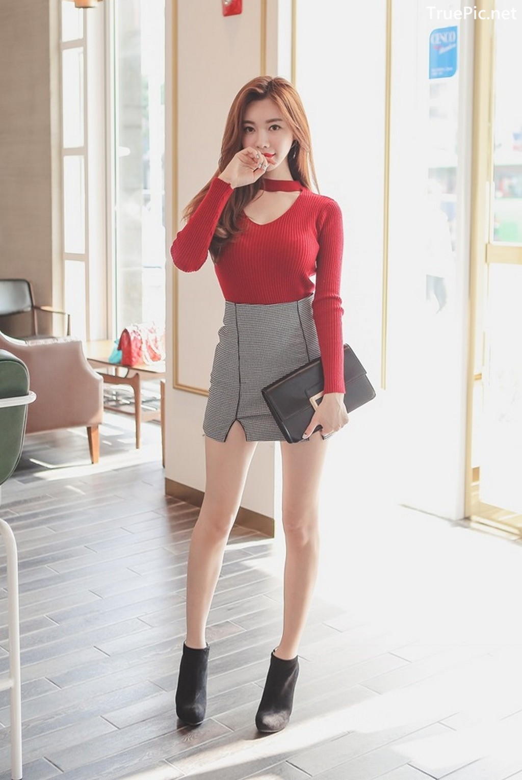 Image Korean Fashion Model - Hyemi - Office Dress Collection - TruePic.net - Picture-4