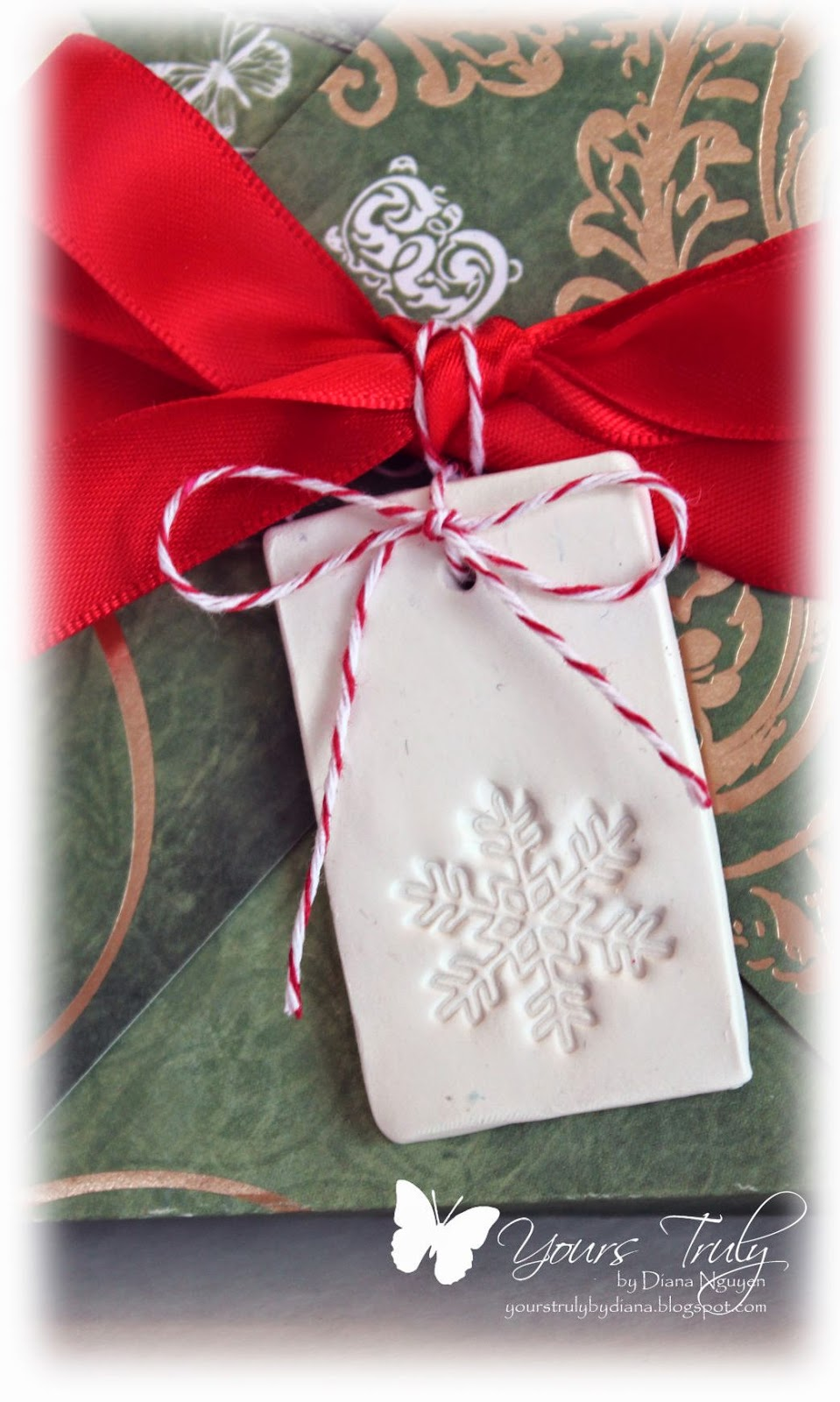 Diana Nguyen, teacher gift, ornament, clay, stamp