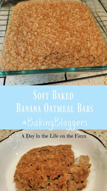 Soft Baked Banana Oatmeal Bars pin