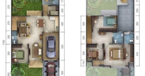 lingkar warna: 4 denah rumah minimalis ukuran 9x17 meter 5