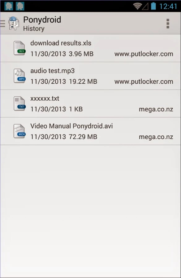 Ponydroid Download Manager v1.2.2