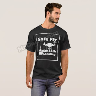Drone Safe Fly DJI Phantom T-Shirt Design - MzGunDesign