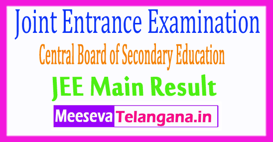 Joint Entrance Examination JEE Main Result 2018