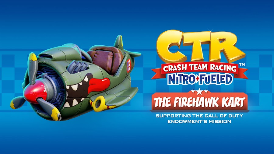 crash team racing nitro-fueled firehawk dlc kart call of duty endowment beenox activision