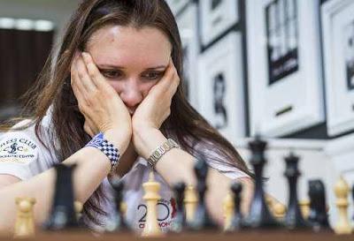 Dans le féminin, le classico Anna Zatonskih (en photo) vs Irina Krush s'est soldé hier par une nulle