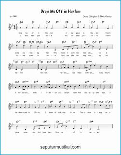 chord drop me off in harlem lagu jazz standar