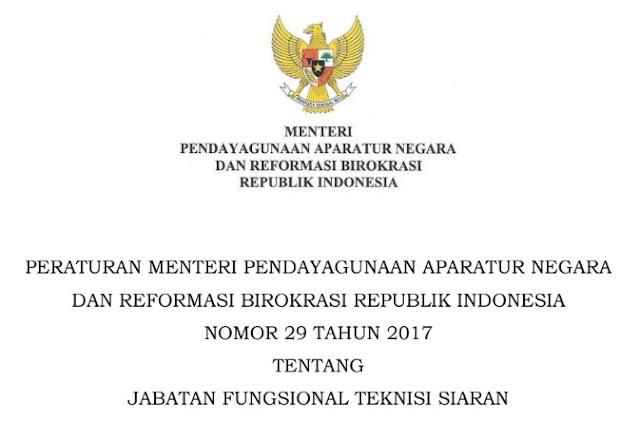 Permenpan RB Nomor 29 Tahun 2017
