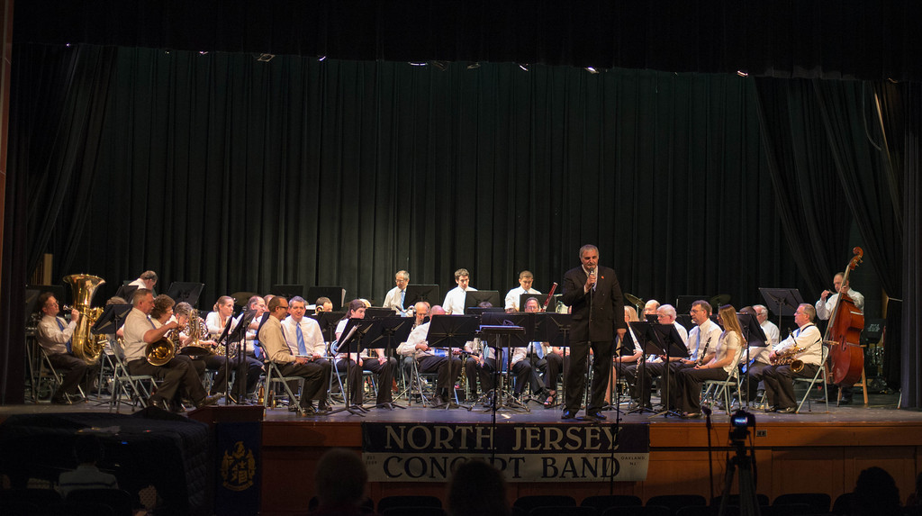 North Jersey Concert Band on stage