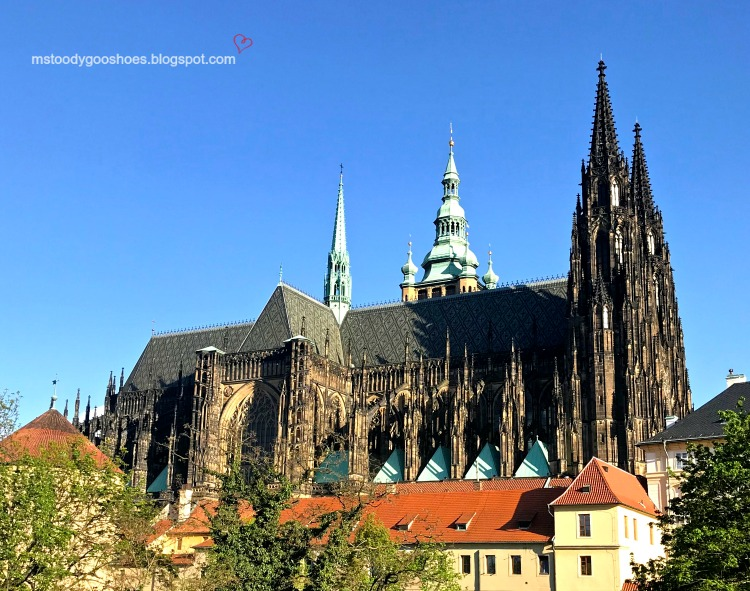 Magnificent St. Vitus Cathedral in Prague| Ms. Toody Goo Shoes #prague #stvituscathedral #danuberivercruise
