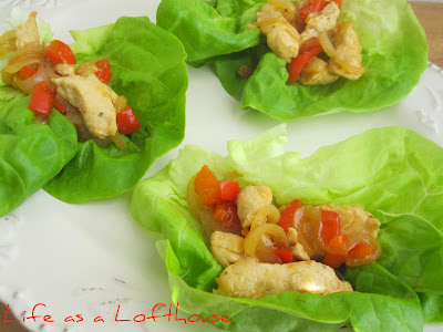 Chicken Stir-Fry is seasoned chicken, red bell peppers, and onion served over a bed of brown rice. Life-in-the-Lofthouse.com
