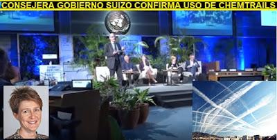 🚩 Ministra del gobierno suizo confirma #Chemtrails #Geoingeniería en conferencia de la UNEP para el medio ambiente #Katecon2006