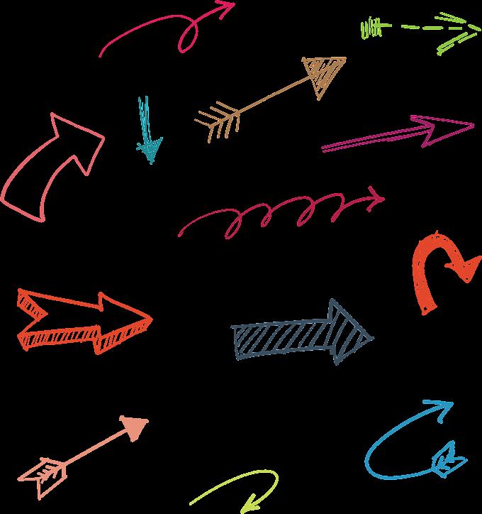 hand drawn arrow, assorted-arrow art, angle, text free png file