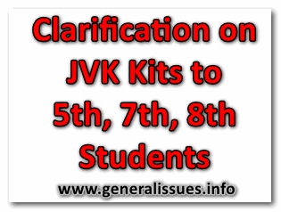 Clarification on JVK Kits to 5th, 7th, 8th Students and Adopt 2020-21 Database for Distribution of JVK Kits