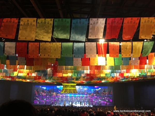 show finale at Jiuzhai Songcheng Romance Park in Zhangzha Town, Sichuan Province, China