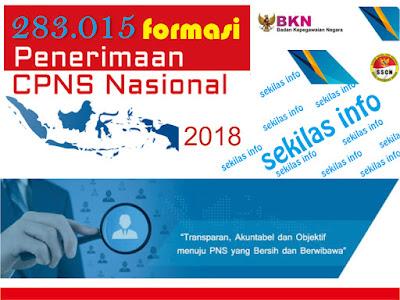 Informasi resmi dibukanya pendaftaran CPNS  Sekilas Info Tentang CPNS 2018 dengan 238.015 Formasi