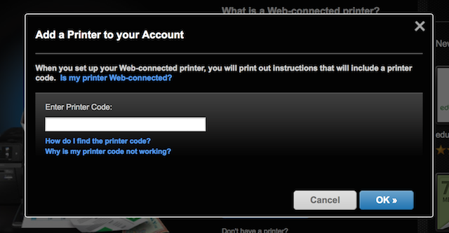 Step 2: Add your printer to your account