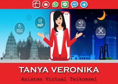 Tanya Veronika Asisten Virtual Telkomsel Untuk Para Pelanggan