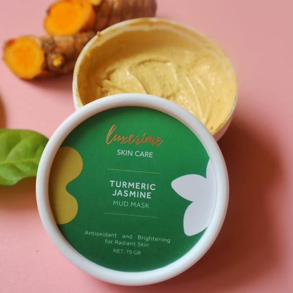 Luxcrime Turmeric Jasmine Mud Mask : Masker Untuk Memutihkan Wajah dengan Cepat