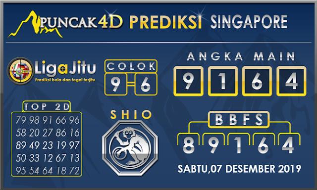 PREDIKSI TOGEL SINGAPORE PUNCAK4D 07 DESEMBER2019