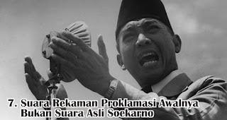 Suara Rekaman Proklamasi Awalnya Bukan Suara Asli Soekarno merupakan salah satu fakta menarik sejarah kemerdekaan RI