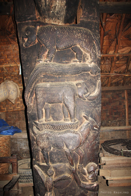 artifcats inside the angh house longwa village mon nagaland