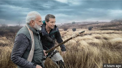 Narendra modi with man vs wild