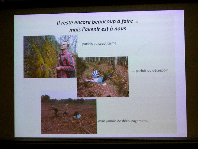 Slide from a presentation at the Rencontres Botaniques, Tours.  Indre et Loire, France. Photographed by Susan Walter. Tour the Loire Valley with a classic car and a private guide.