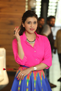 Actress Mannar Chopra in Pink Top and Blue Skirt at Rogue movie Interview  0125.JPG
