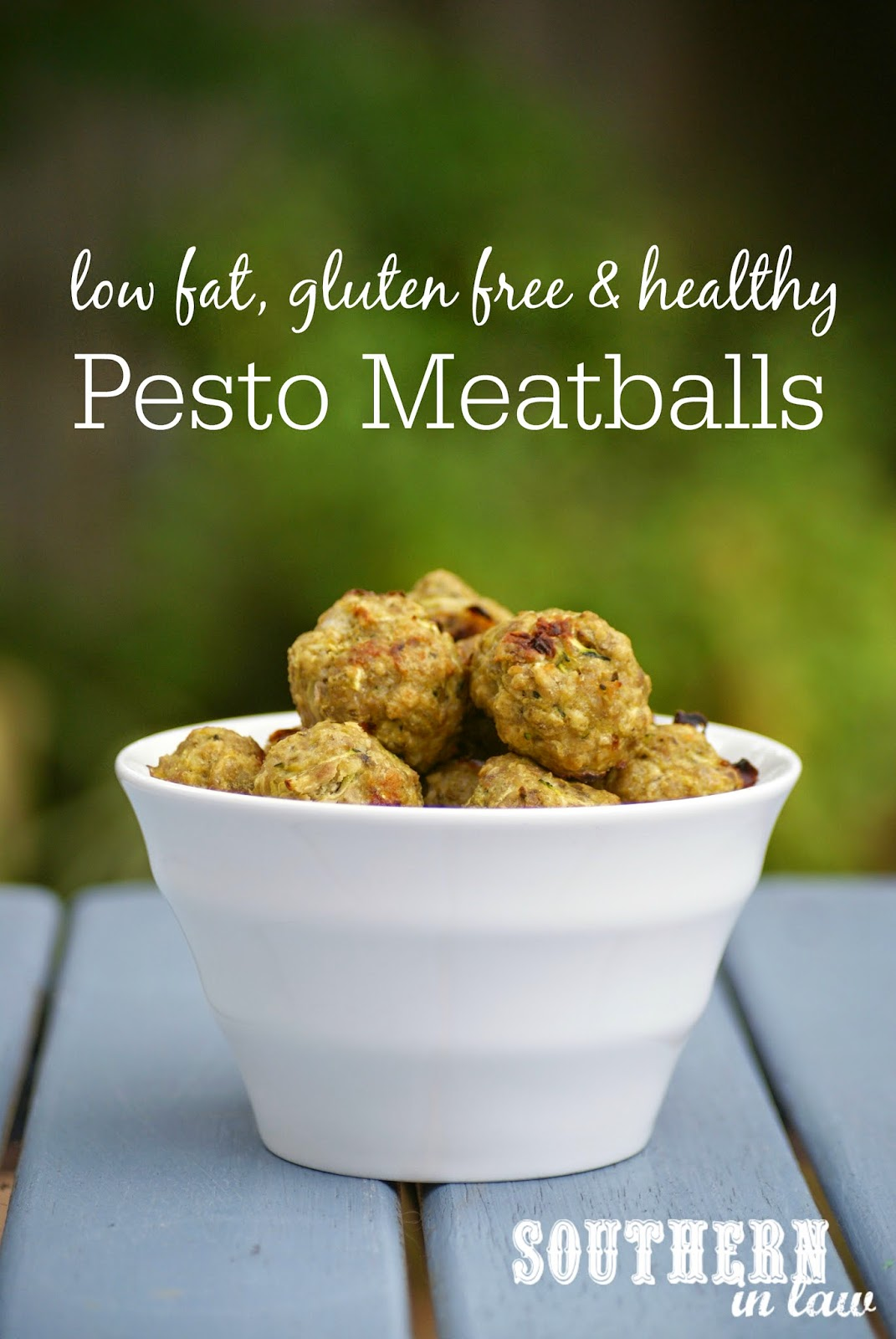 Low Fat Healthy Pesto Meatballs Recipe with Turkey Mince or Chicken Mince