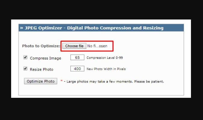 Cara Kompres Foto Tanpa Menurunkan Kwalitas - JPEG-Optimizer