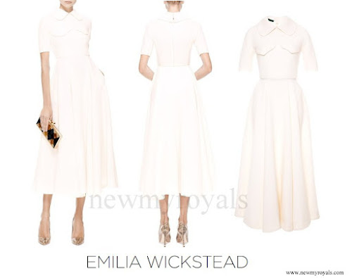 Kate Middleton wore EMILIA WICKSTEAD Wool Crepe Midi Dress